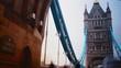 Rush hour in London, view to the Tower Bridge , London, Uk