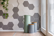 Interior With Hexagonal Wall Tiles