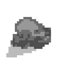 Rock Pixel Art Icon