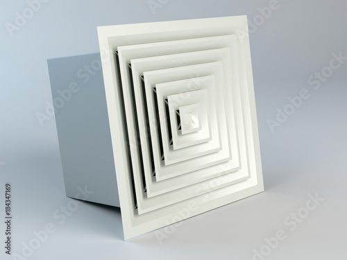 Air duct in square shape Canvas-taulu