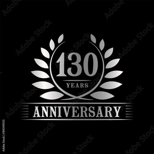 Fotografía  130 years anniversary logo template.