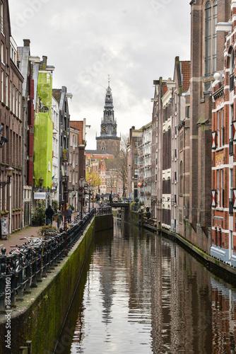 Beautiful view of Amsterdam City, Netherlands Canvas Print