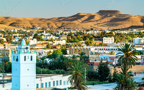 Photo sur Aluminium Tunisie Panorama of Tataouine, a city in southern Tunisia