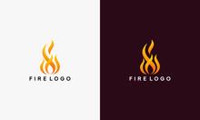 3D Fire Flame Logo Design Vector Template Vector