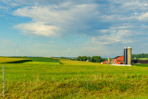 Valokuva Amish country farm barn field agriculture in Lancaster, PA
