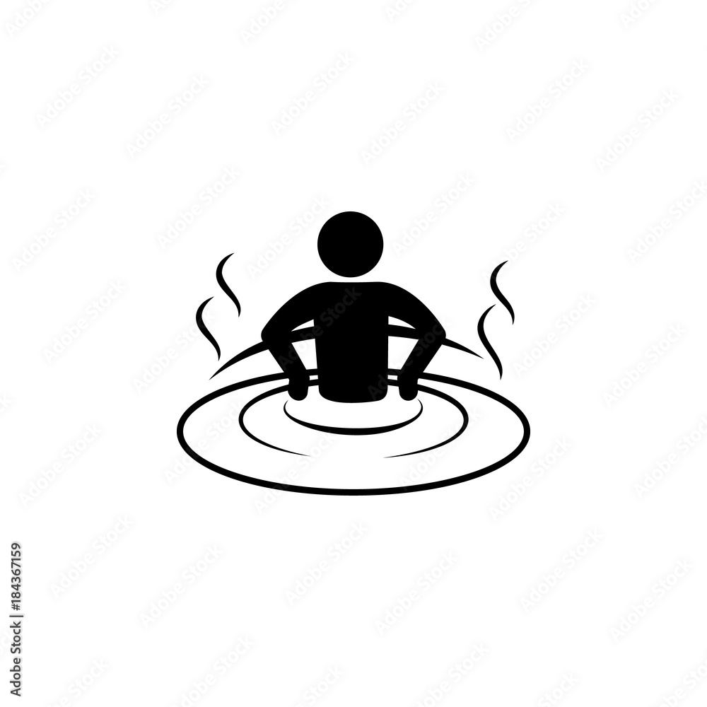 Fototapeta relaxation in the jacuzzi icon. Spa icon. Element relaxation and rest icon. Premium quality graphic design. Signs, outline symbols collection icon for websites, web design, mobile