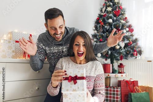Obraz na plátně Christmas surprise