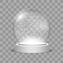 Christmas Globe With Falling S...