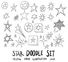 Set Of Star Illustration Hand ...