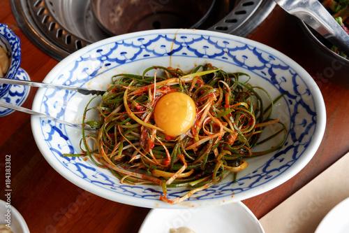 Pa Kimchi, Korean traditional food green onion kimchi