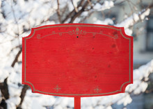 Red Holiday Christmas Wooden S...
