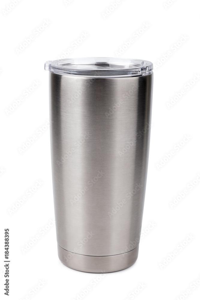 Fototapeta thermos bottle, Tumbler glass on white background
