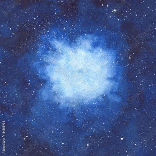 akwarele-recznie-malowane-ilustracja-przestrzeni-z-jasnej-niebieskiej-mglawicy