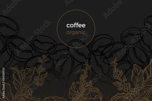 Vector template of coffee