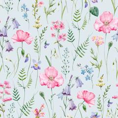 Naklejka Popularne Watercolor floral vector pattern