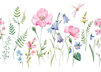 FototapetaWatercolor floral vector pattern