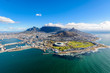 canvas print picture - Aerial photo of Cape Town