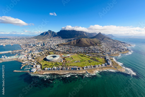 Poster Afrique Aerial photo of Cape Town 2