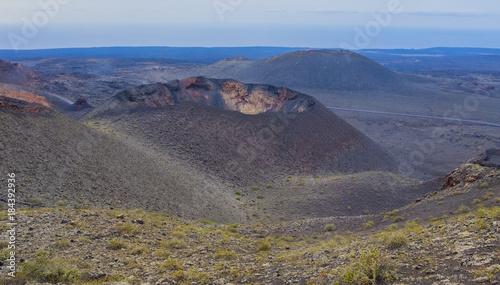 Staande foto Vulkaan Timanfaya National Park, Volcanic landscape, Lanzarote, Canary islands, Spain