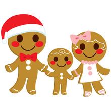 Cute Happy Sweet Gingerbread C...
