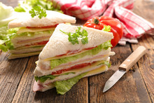Sandwich Slices With Salad And...