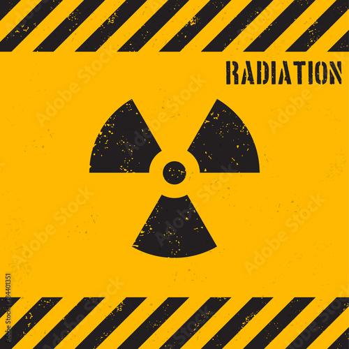 Obraz na płótnie Vector grunge radiation background