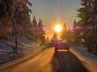 Sonne blendet Autofahrer