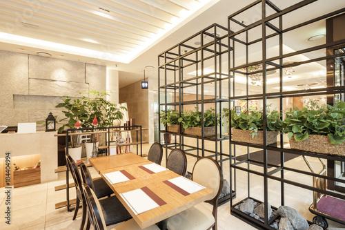 Photo  restaurant, coffee shop, hotel interior in seoul, korea