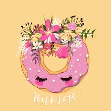 Cute Hand Drawn Donut (doughnu...