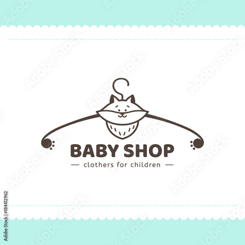 Logo For Childrens Clothing Shop Vector Template Of The Brand For