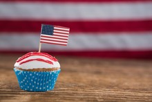 Patriotic Cupcake With America...