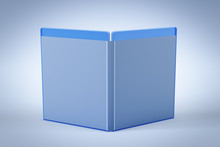 Blank Open Blu-ray Disk Box Or...