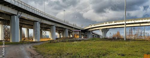 Junction of highways,highway overpass Wallpaper Mural