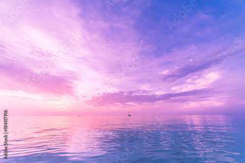 Inspirational sea and sky view. Tropical beach view.