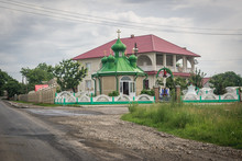 Small Roadside Chapel With Gre...