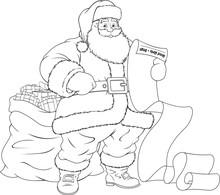 Vector Illustration, Santa Cla...