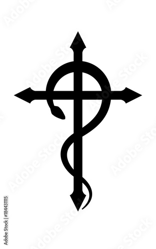 Crux Serpentines The Serpent Cross Mystical Sign And Occult
