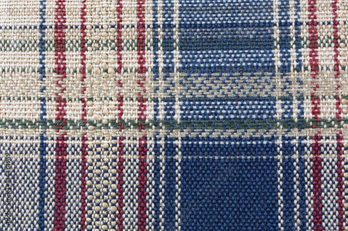 Fotografie, Obraz  Close view of colorful woven fabric