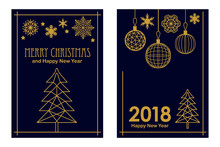 Trendy Merry Christmas And Hap...
