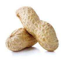 Peanuts In Nutshell On White