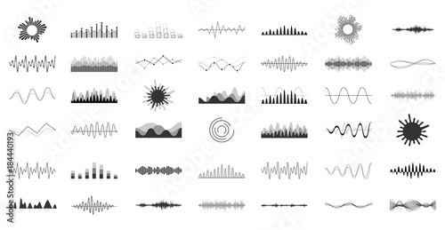 Fotomural  Set of vector audio scales.
