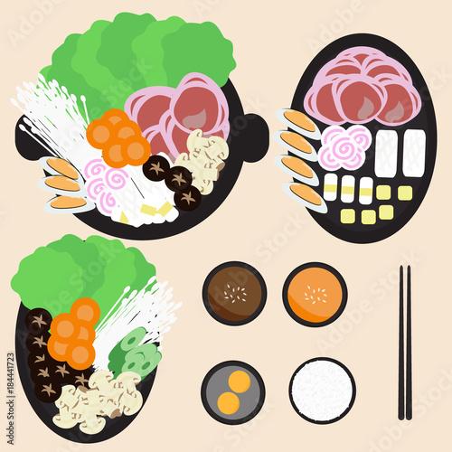 Fotografie, Obraz  seafood and pork belly hot pot