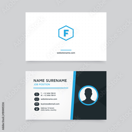 Vector modern creative and clean business card template flat vector modern creative and clean business card template flat business card design with profile vector reheart Choice Image