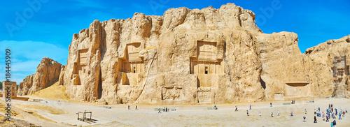 Fotografie, Obraz  Panorama of Naqsh-e Rustam archaeological site