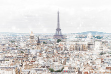Paris City Roofs Skyline With ...