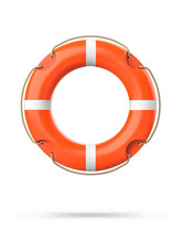 Top View Of Lifebuoy, Isolated...