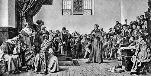 Luther at the Diet of Worms (1521), by Anton von Werner (from Spamers Illustrier Tapéta, Fotótapéta