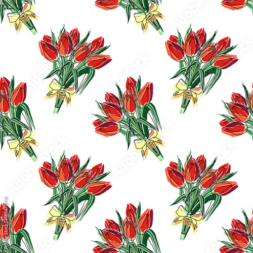 wektorowy-bezszwowy-kwiecisty-wzor-kolorowy-recznie-rysowane-kwiatki-z-bukietem-tulipanow-do-papieru-tkaniny-recznie-robione-dekoracje-rezerwacja-zlomu-poligrafia-koszulka-karty