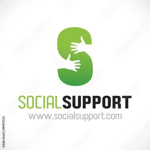 Photo logo association aide soutien vert