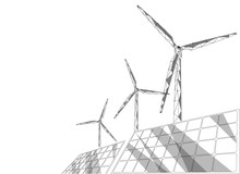 Solar Panels Windmills Turbine...